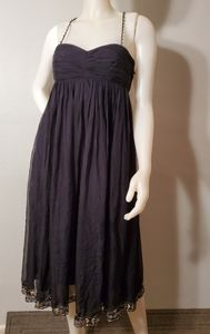 LAUNDRY by Design SILK dress sequin bead